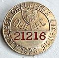 Chauffeur licencié 1926 Québec.jpg