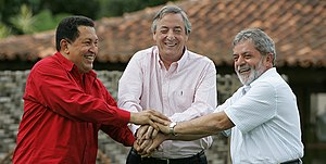 Kirchner, Lula y Chávez