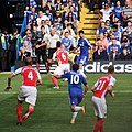 Chelsea 2 Arsenal 0 Top team performance, top of the league. (15265997897).jpg