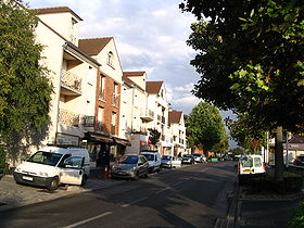 Une rue dans le centre de Chennevières-sur-Marne