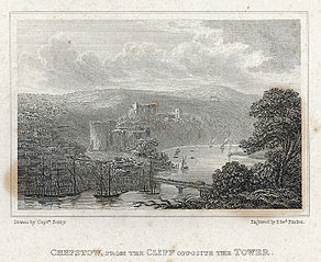 Chepstow, from the cliff opposite the tower