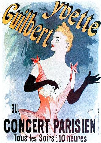 Jules Chéret - Image: Cheret Yvette Guilbert