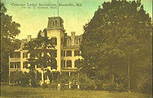 Chestnut Lodge Postcard dated 1909