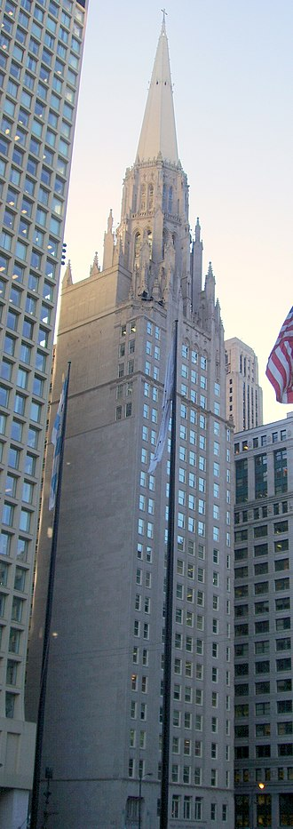 First United Methodist Church of Chicago - Image: Chicago Temple Building