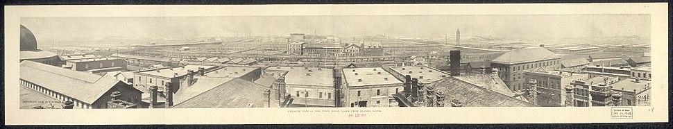 Chicago stock yards birdseye 1897