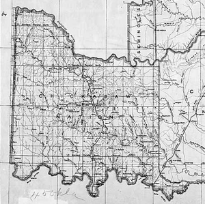 Chickasaw Nation - Map of Chickasaw Nation, 1891
