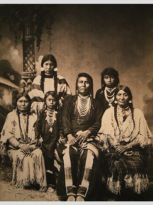 Chief Joseph and family, circa 1880. (Click on...