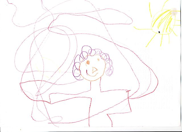 Line Drawing Of Child S Face : File childs drawing of venus transit g wikimedia commons