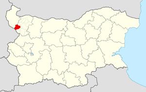 Chiprovtsi Municipality - Image: Chiprovtsi Municipality Within Bulgaria