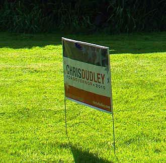 Chris Dudley - Lawn sign in Hillsboro during the primary campaign