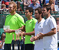 Chris Guccione Andre Sa Pablo Cuevas David Marrero Nottingham Open 2015.jpg