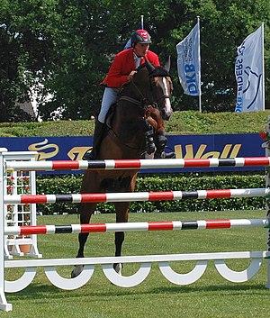 English: German rider Christian Ahlmann with T...