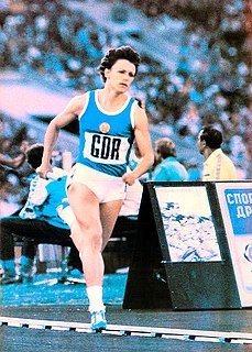 Christina Lathan East German sprinter