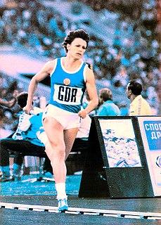 Christina Lathan East German sprinter