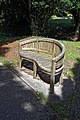 Church of St Mary the Virgin, Woodnesborough, Kent - churchyard bench seat.jpg