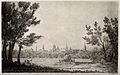 City of Oxford; distant view from the meadows. Etching by S. Wellcome V0014233.jpg