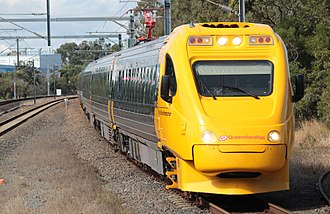 Narrow-gauge railway - Image: City of Rockhampton train (Sunshine railway station, Brisbane)