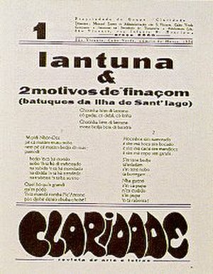 Batuque (music and dance) - A Santiago batuque featured in the first issue of Claridade issued in 1936