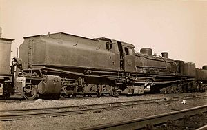 South African Class HF 2-8-2+2-8-2 - Class HF no. 1386, c. 1940