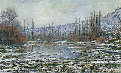 Claude Monet - The thaw at Vetheuil