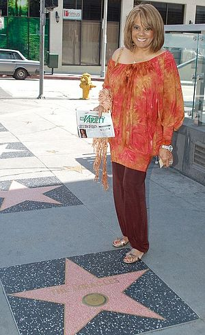 Claudette Rogers Robinson - Robinson next to the Hollywood Walk of Fame star for the Miracles in March 2013