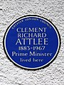 Clement Richard Attlee 1883-1967 Prime Minister lived here (crop).jpg