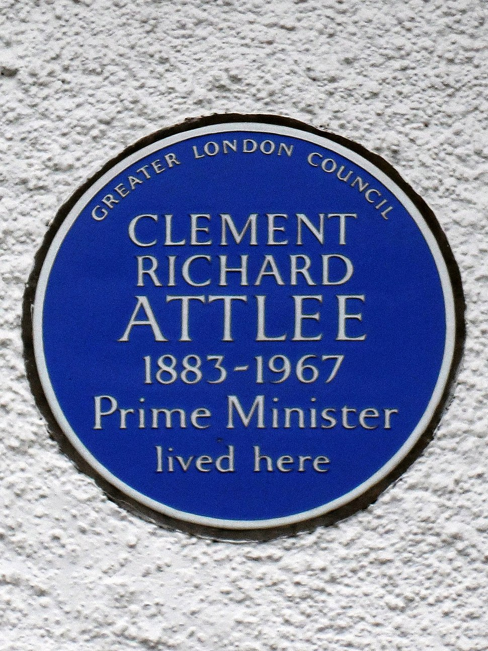 Clement Richard Attlee 1883-1967 Prime Minister lived here (crop)