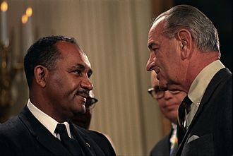 Clarence Mitchell Jr. - Clarence Mitchell with President Lyndon Johnson in 1964.