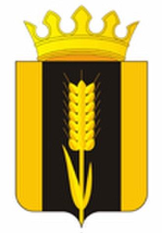 Karagaysky District - Image: Coat of Arms of Karagaisky rayon (Perm krai) (2010) (with crown)