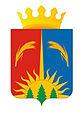 Coat of Arms of Yurlinsky rayon (Perm krai) with a crown.JPG