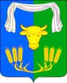 Coat of arms of Pokrovskoye municipality, Novopokrovskaya, Krasnodar.png