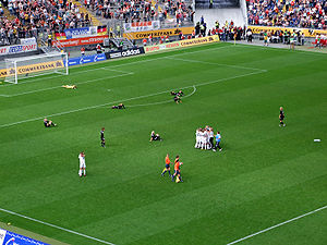 2007–08 UEFA Women's Cup - Post match celebrations