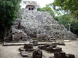 archeological site of Pre-Columbian Maya
