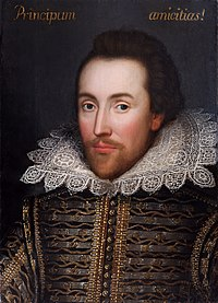 'n Omstrede portret van William Shakespeare, ca. 1610.