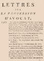 """Code Noir, définition dans Armand-Gaston Camus, """"Lettres sur la profession d'avocat, 1772.png"""