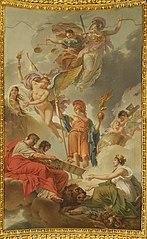 La Terre recevant des empereurs Adrien et Justinien le code des lois romaines dictées par la nature, la justice et la sagesse