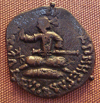 Azes I - Coin from Azes Era depicting the king. British Museum.