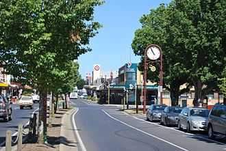 Colac, Victoria - The Princes Highway running through Colac