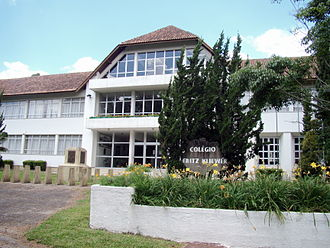 Low German - A public school in Witmarsum Colony (Paraná, Southern Brazil), teaches in the Portuguese language and in Plautdietsch.