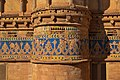 Colored tiled exterior walls of the Gwalior Fort.jpg