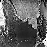 Columbia Glacier, Calving Terminus, Heather Island, July 24, 1976 (GLACIERS 1286).jpg