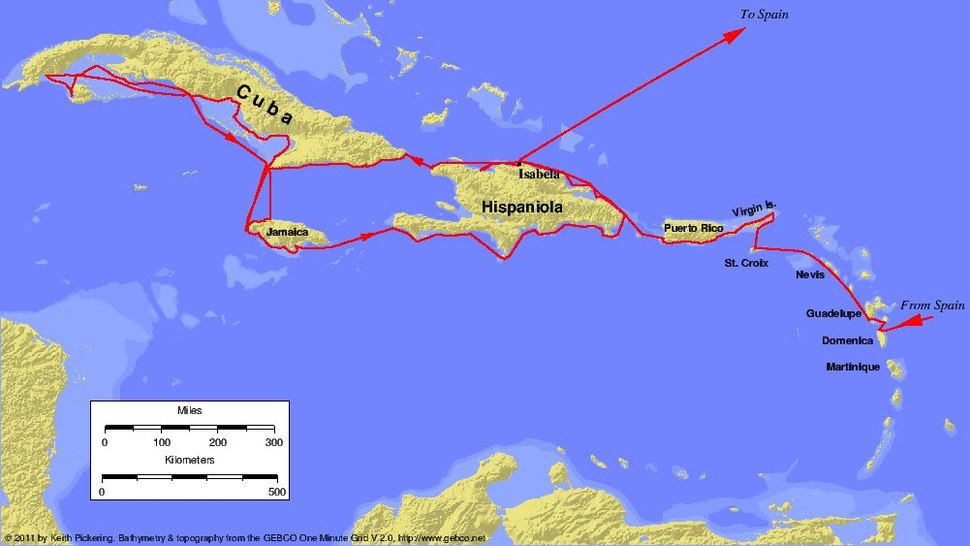 Columbus second voyage