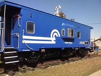 Glossary of rail transport terms - A caboose on display at the National New York Central Railroad Museum