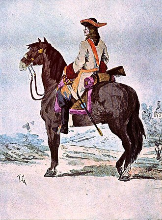 2nd Dragoon Regiment (France) - A cavalier of the Condé-Cavalerie in 1690