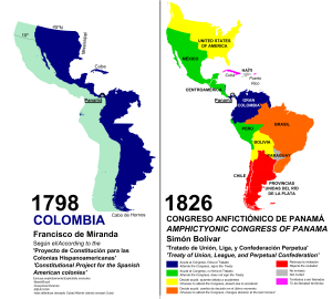 Congress of Panama - Nations of the Congress of Panama, 1826