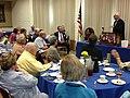 Congressman George Miller spoke during the Moraga Rotary Club regular meeting on April 30, 2013. (8696395341).jpg