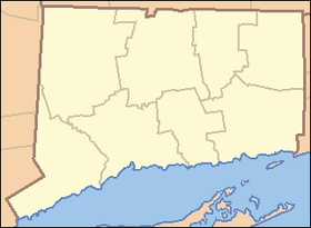 Кристал Лејк на мапи Connecticut