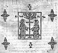 Constantine and Helene (Georgian Gospels, 1709).JPG