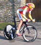 Contador alla Parigi-Nizza 2010, con indosso la maglia di campione spagnolo a cronometro