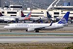 Copa Airlines, Boeing 737-8V3(WL), HP-1835CMP - LAX (19510946238).jpg